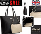 New Womens ARMANI JEANS Black Large Patent  Handbag 100% ORIGINAL AJ Bags Brand