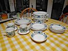 Vintage Midwinter Spanish  Garden-sets of dinner ,side plates,  cups and saucers