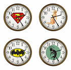 FC392 NEW THEMED LOGO 15 ROUND WALL CLOCK CAPPUCCINO ESPRESSO FINISH FRAME