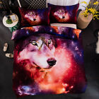 Wolf Duvet Cover Set Queen King Size Quilt Cover Pillow Case Galaxy Bedding Set