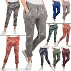 Womens Trousers Ladies Floral Print Drawstring Bottoms Jogging Pants Lounge Wear