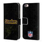OFFICIAL NFL PITTSBURGH STEELERS LOGO LEATHER BOOK CASE FOR APPLE iPHONE PHONES