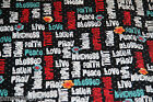 Christian Words of Wisdom Faith 100% cotton fabric sold by YARD free ship US BLK