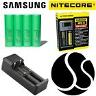 Genuine Samsung 25R 18650 High Drain Batteries INR 2500mAh 35A Flat Nitecore i2
