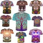 Women/men Psychedelic trees 3D print Short Sleeve Casual tops T-Shirts S-5XL H1 for sale  Shipping to Canada