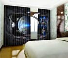 3D Universe Science  63 Blockout Photo Curtain Printing Drapes Fabric Window CA