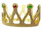 Внешний вид - Gold Plastic Jeweled Crown King Queen Majestic Royalty Adult Costume Prop