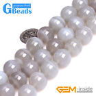 """14mm Gray Banded Stripe Agate Gemstone Round Beads For Jewelry Making 15"""" GBeads"""