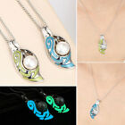 Glowing Pearl Necklace Women Fashion Pendant  Chain Valentine's Day Gift Jewelry