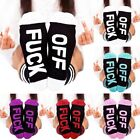 Letter Print Fuck-off Funny Casual Sports Cotton Long Socks Winter Stockings