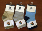 NEW***TWINKIDS® Baby Toddler Boy Socks (3 Pairs)**Blue/Grey/Green**Up to 4 years
