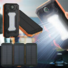 DIY Waterproof 300000mAh Power Bank 2 USB Solar Charger Case With LED No Battery