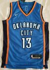 New Oklahoma City Thunder 13 Paul George Blue Road Stitched NBA Jersey