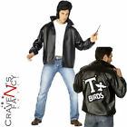 Mens Adult Official Licensed Grease Jacket T-BIRD 1950s Film Fancy Dress Costume