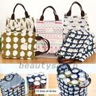 Cotton Insulated Lunch Bento Bag Canvas Storage Box Picnic Tote Large Capacity