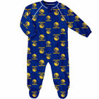 Golden State Warriors Infant Royal Zip-Up Raglan Coverall - NBA