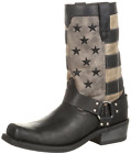 Durango Men's Faded Flag Harness Cowboy Boot - Black