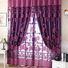 Floral Tulle Voile Curtain As Door Window Curtain or Shop Window Display