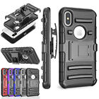 Heavy Duty Shockproof Kickstand Blet Clip Case Cover for Apple iPhone X US Ship