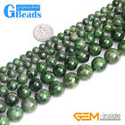 """Natural AA Grade Green Diopside Semi Gemstone Round Beads for Jewelry Making 15"""""""