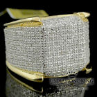 Men's 10k Yellow Gold Finish Genuine Real Diamond Iced Pinky Ring Eternity Band