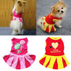 Valentine's Day Dog Cat Pet Clothes Princess Party Pleated Ruffle Tutu Dress New