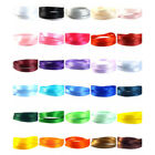 "Satin Ribbon 10mm (3/8"" inch) - 35 Plain Coloured Double Sided / Faced Ribbon"