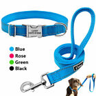 Reflective Nylon Personalized Dog Collar and Leash Set Custo