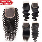 Pre Plucked 4x4 Lace Closure 100% Virgin Human Hair MU Straight Wavy Baby Hair