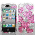 For Apple iPhone 4 4S 4G Bling Diamond Hard Phone Case Cover Accessory