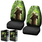 New Green & Black Star Wars Yoda Front Pair High Back Car Seat Covers $67.4 CAD
