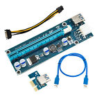 6 X USB 3.0 Pcie PCI-E Express 1x to16x Extender Riser Card Adapter Power Cable
