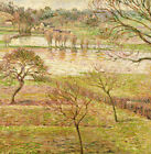 "CAMILLE PISSARRO ""Flood At Eragny"" landscape print choose SIZE, from 55cm up"