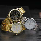 Luxury Geneva Ladies Women Girl Unisex Gold Stainless Steel Quartz Wrist Watch image