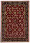 Red Traditional - Persian/Oriental Flowers Scrolls Area Rug Bordered 271C3