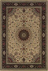 Ivory Traditional - Persian/Oriental Flowers Leaves Area Rug Medallion 095I8