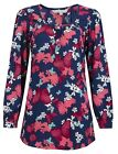 Ex Debenhams Ex Red Herring Red Floral Print Blouse Top Size 8 10 12 14 16 18