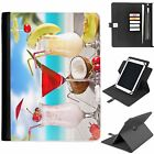 U-EXO09 COCKTAIL UNIVERSAL PROTECTIVE TABLET LEATHER FLIP WALLET 360 SWIVEL CASE
