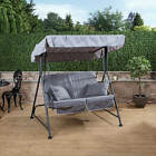 Mosca 2 Seater Garden Swing Seat - Charcoal Frame With Luxury Cushions
