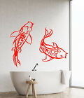 Vinyl Wall Decal Koi Fish Asian Japanese Style Abstract Anim