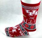 Houston Cougars NCAA Red White Ugly Sweater Super Fan Crew Socks