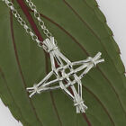 Sterling Silver Irish LARGE ST. BRIGID'S BRIDGET'S CROSS PENDANT Made in Ireland