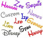 2 X Personalised Disney Words Names 21cm Stickers Boys Girls Kids Wall Decal
