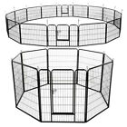"8 /16 Panels 40""/24"" H Heavy Duty Pet Playpen Dog Exercise Pen Indoor/Outdoor"