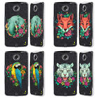 HEAD CASE DESIGNS FLORA AND FAUNA BLACK CHROME GLITTER CASE FOR MOTOROLA PHONES