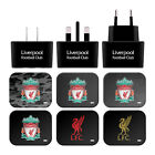 LIVERPOOL FC LFC CREST & LIVERBIRD BLACK EU CHARGER & USB CABLE FOR APPLE iPAD