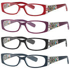 stylish frame readers spring hinge womens reading