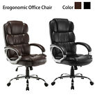 Black / Brown Luxury Executive High Back PU Office Chair Computer Boss Style