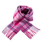 Heritage of Scotland 100% Extra Fine Lambswool Scottish Pink Check Scarf