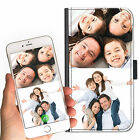 2 IMAGE PERSONALISED CUSTOM DELUXE COLLAGE ON A LEATHER PU MOBILE PHONE CASE